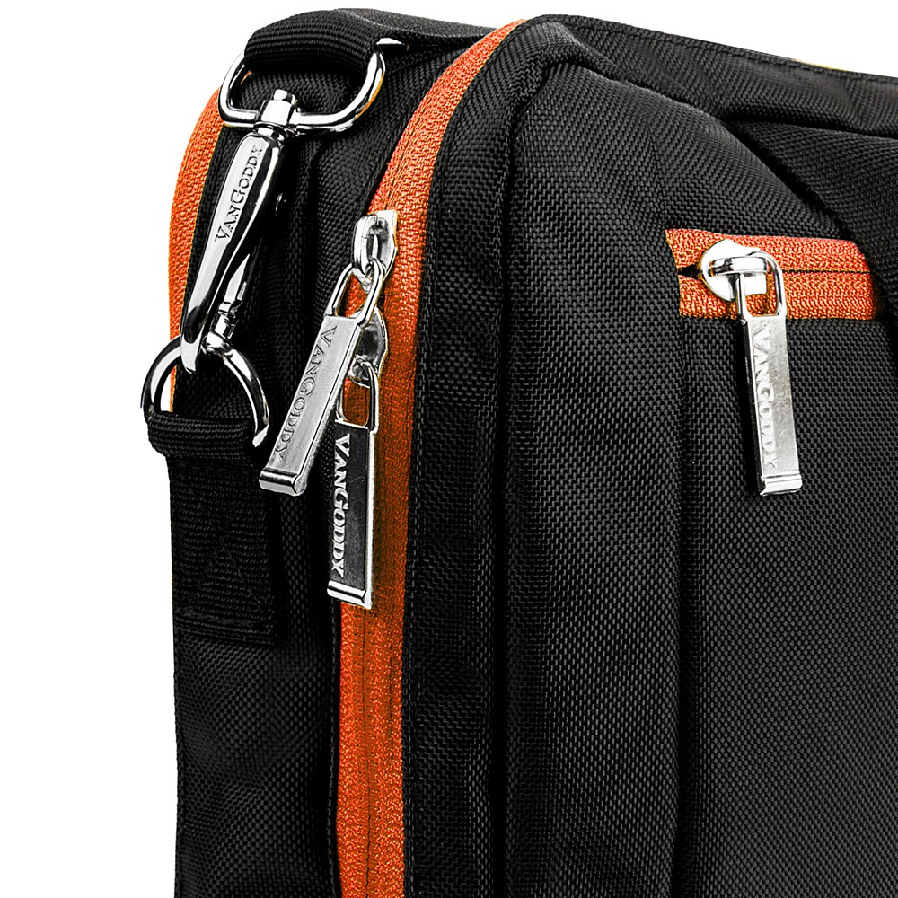 El Prado Laptop Messenger/ Backpack (Black/Orange) 15-17""