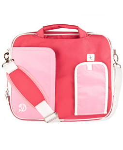 (Pink/White) Pindar Shoulder Case 11""
