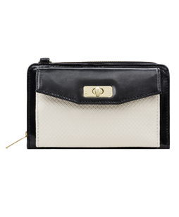 Venice II Clutch (Black/White)