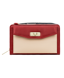 Venice II Clutch (Wine/Cream)