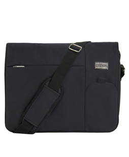 Italey Laptop Messenger Bag (Black)