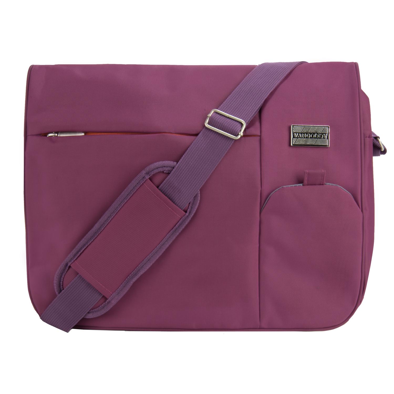 Italey Laptop Messenger Bag (Purple)