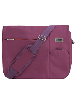Italey Laptop Messenger Bag (Purple)