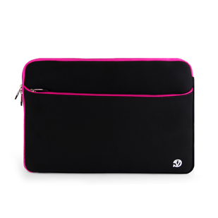 "Neoprene Sleeve 17"" (Black/ Pink Trim)"