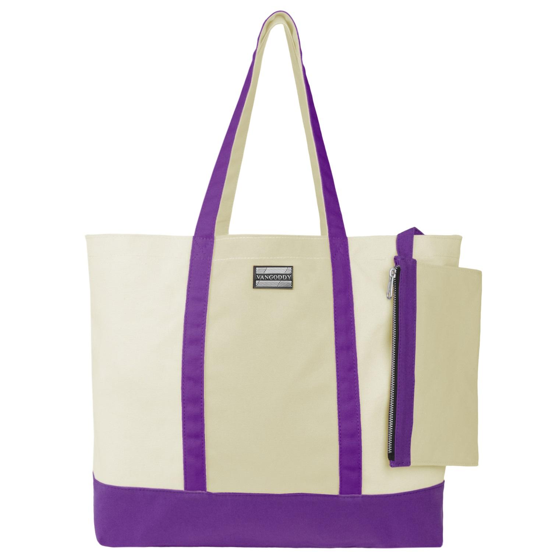 Isling Tote Bag (Natural/Purple)