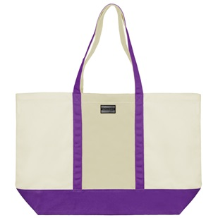 Isling Tote Bag (Natural/Purple)