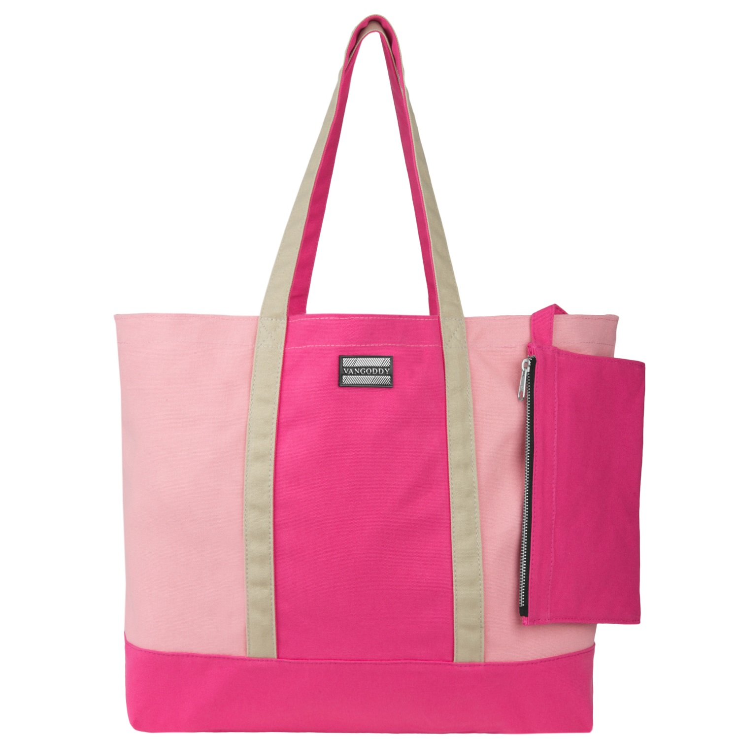 Isling Tote Bag (Magenta/Natural)