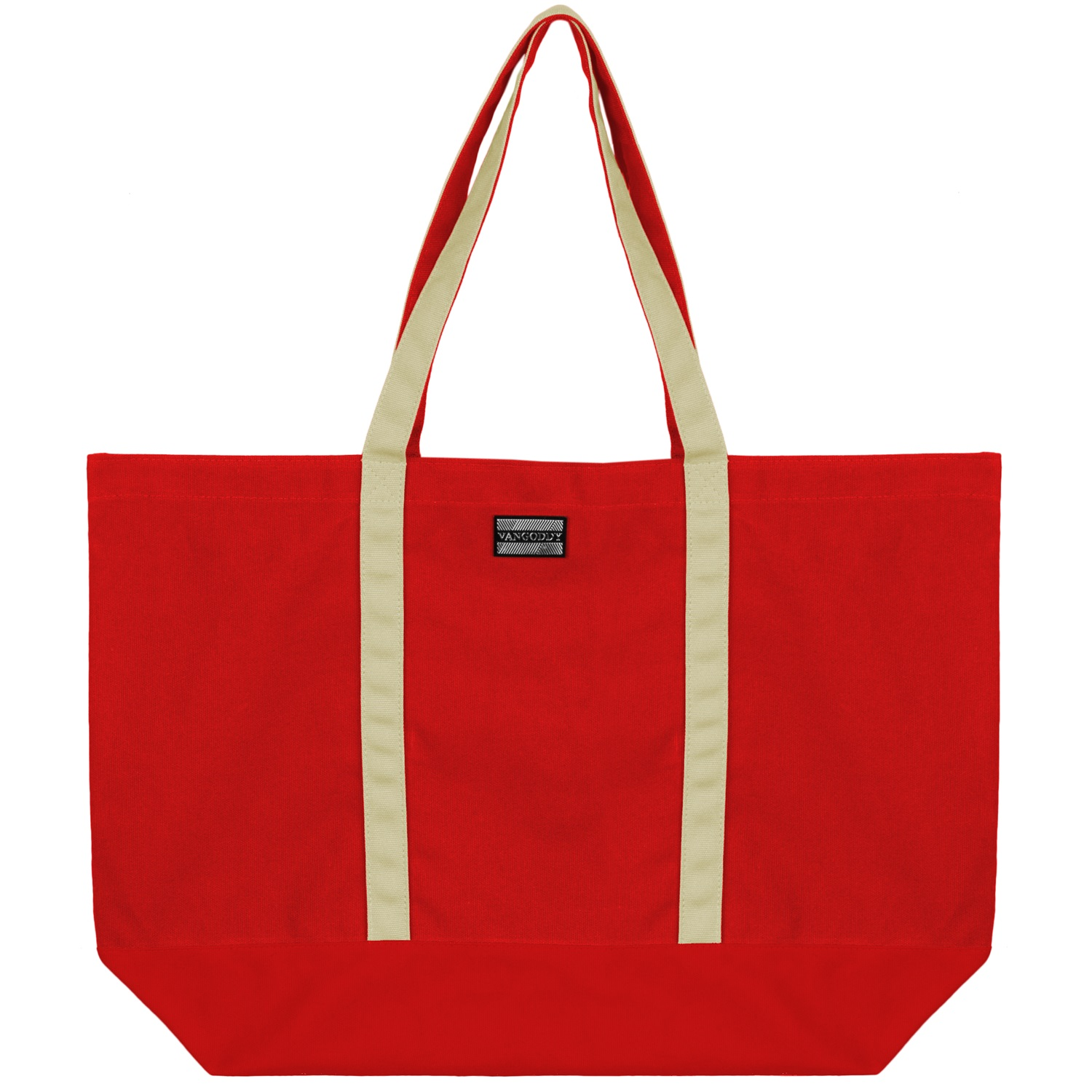 Isling Tote Bag (Red/Natural)