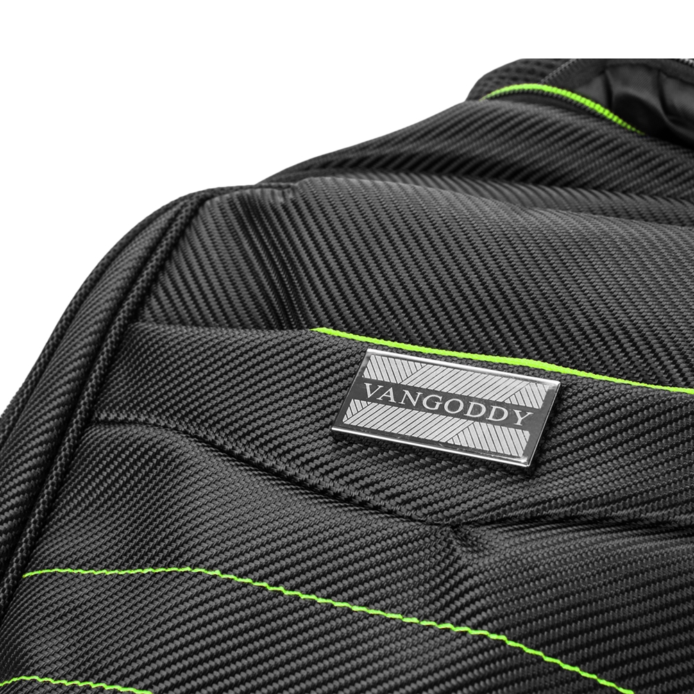 "Bravo Laptop Backpack 15"" Black Green"