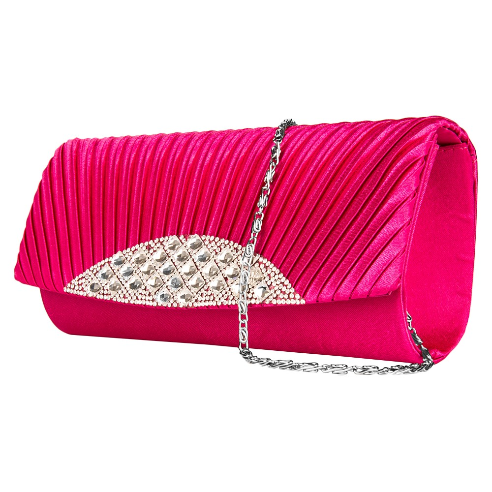 Anna Diamond Clutch  (Magenta)