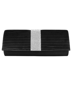 Palki Diamond Clutch  (Black)