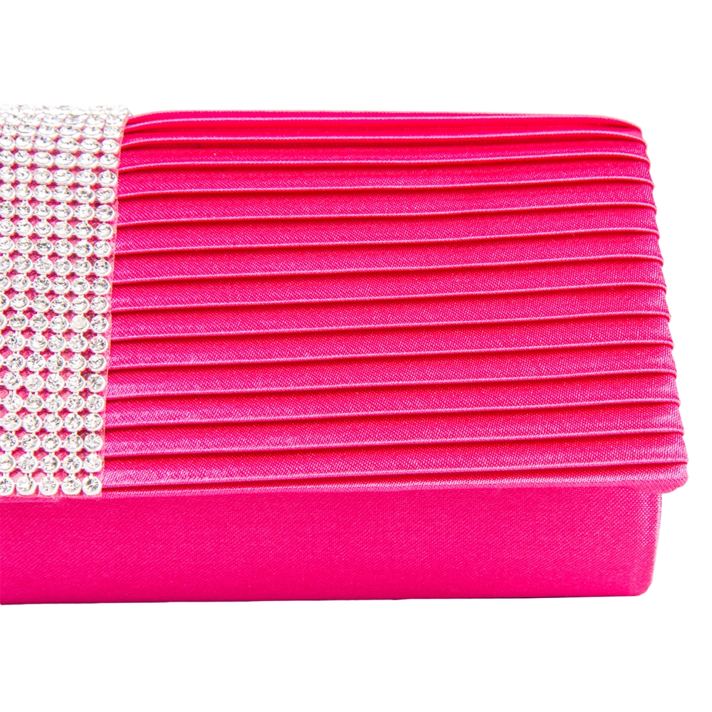 Palki Diamond Clutch (Magenta)