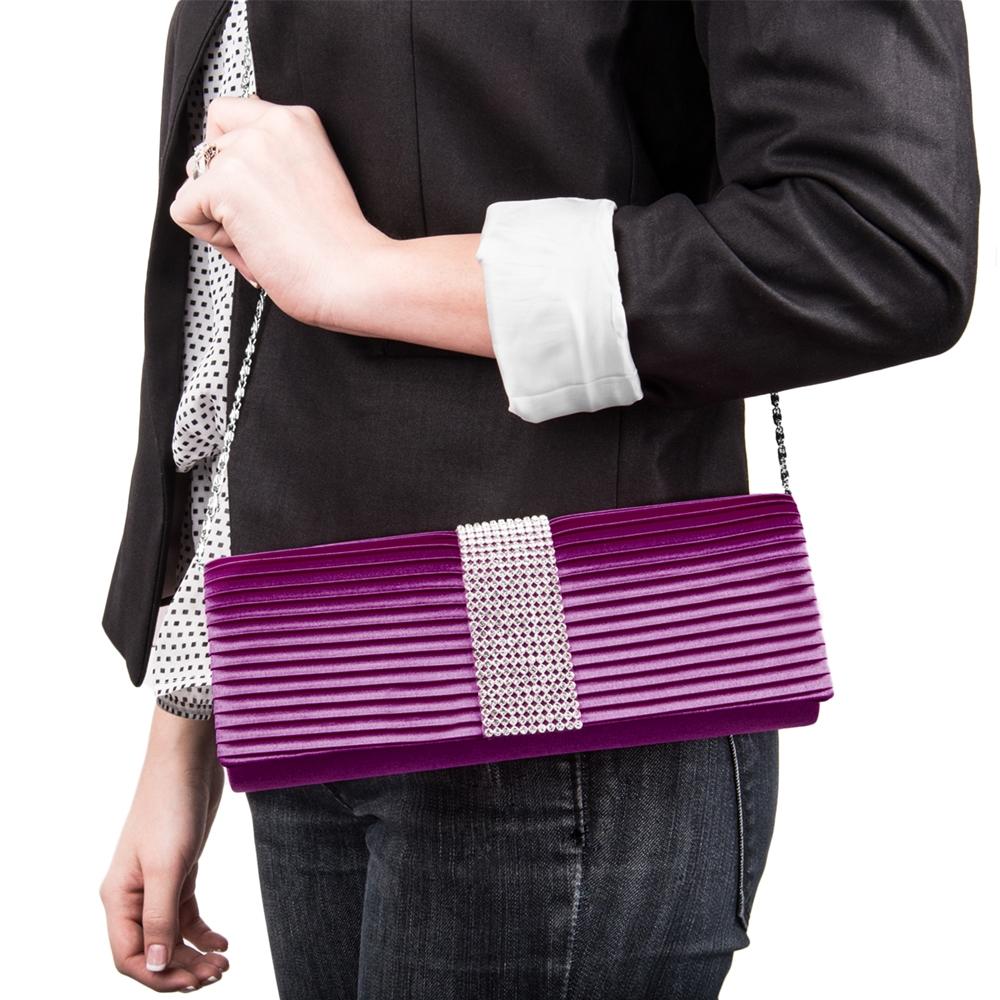 Palki Diamond Clutch (Purple)