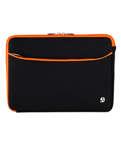 (Black/Orange) Neoprene 13 Laptop Carrying Sleeve