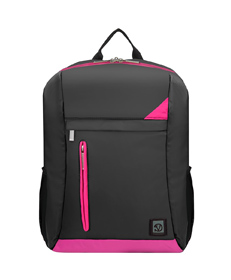 "Adler Laptop Backpack 15.6"" (Metallic Grey with Magenta Pink Trim)"