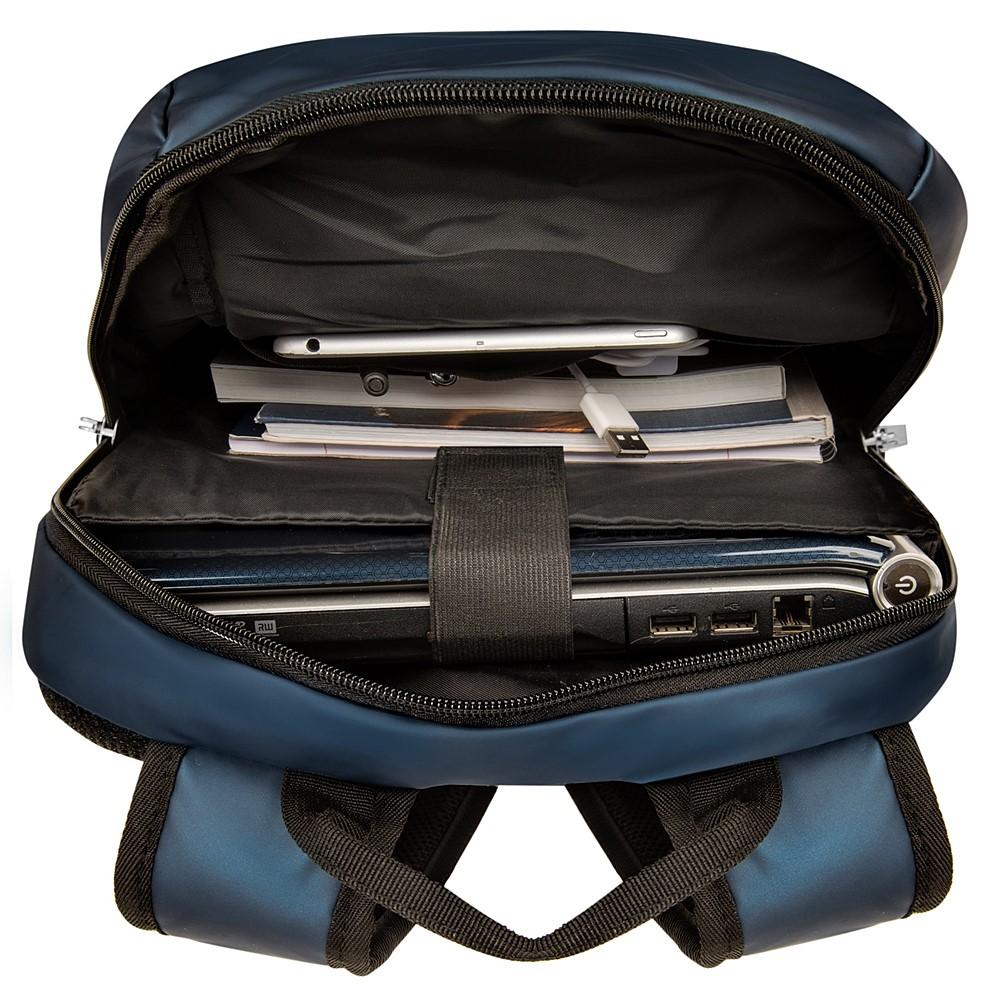 """Adler Laptop Backpack 15.6"""" (Navy Blue with Black Trim)"""
