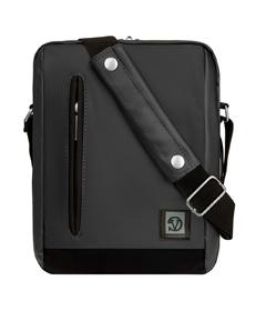 "Adler Laptop Shoulder Bag 10.2"" (Metallic Grey/Black Trim)"