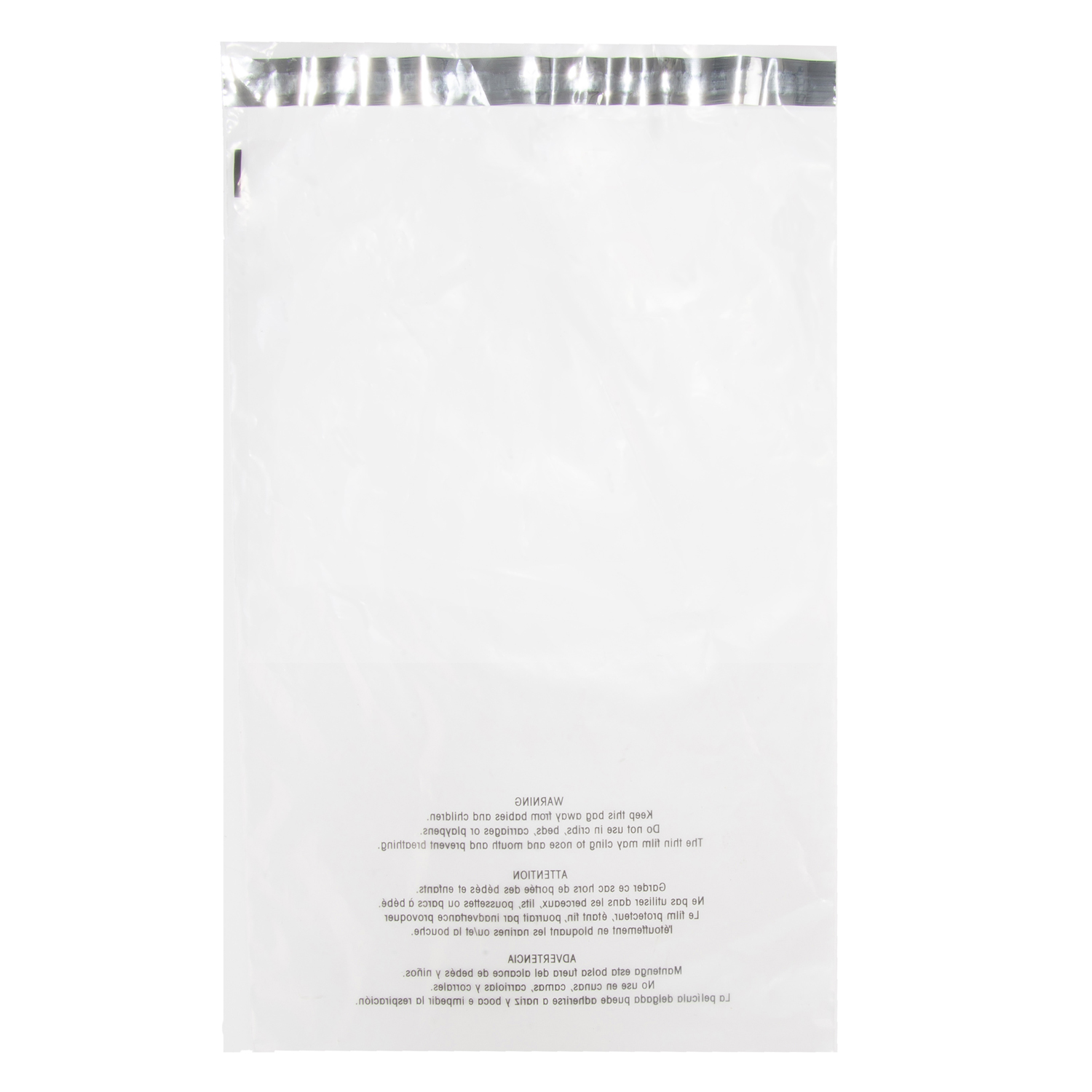 (100 PC) 12 X 18 Clear Poly Bag