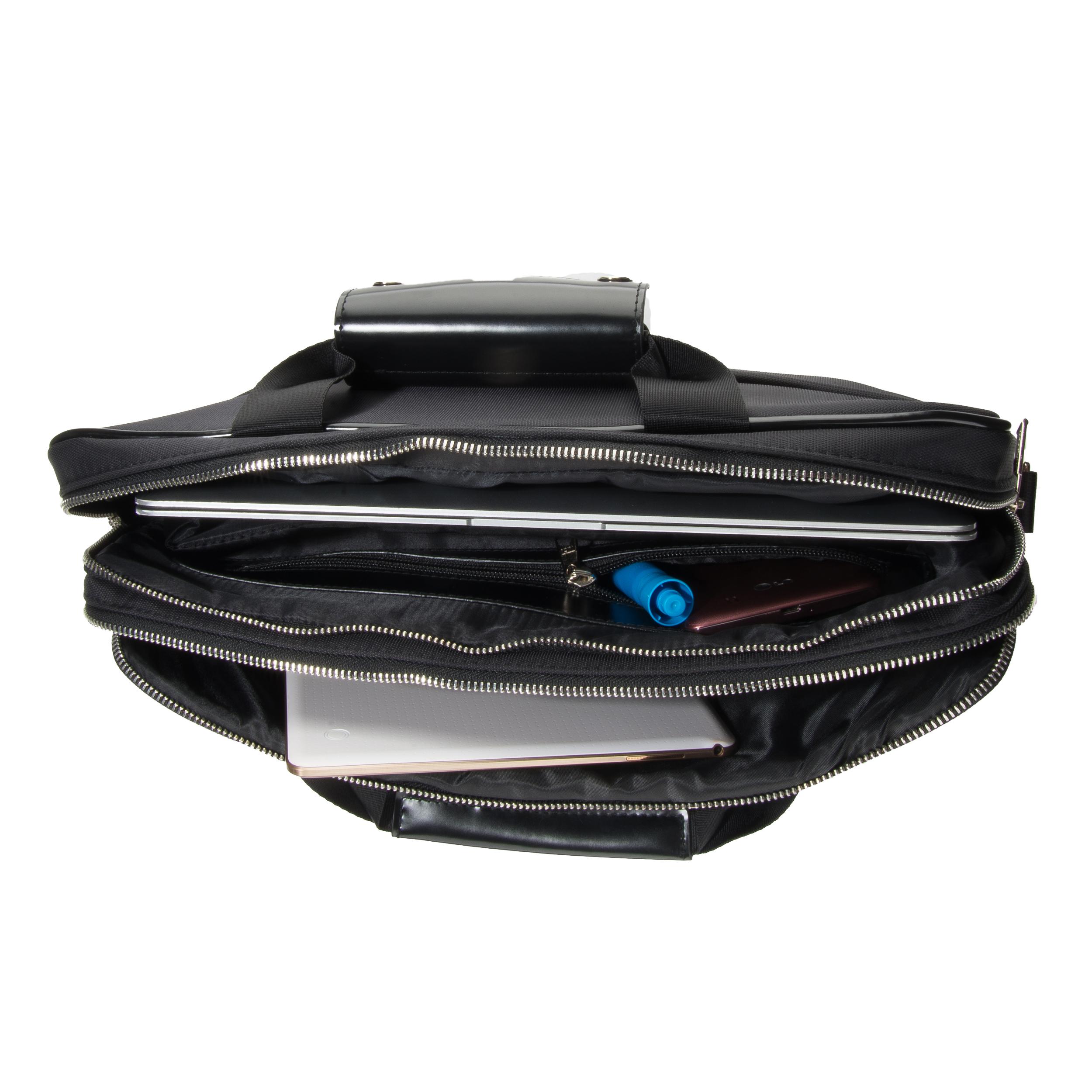 """Melissa Shoulder Bag 15"""" (Black/Black)"""