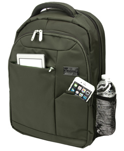 """Germini Laptop Backpack 15"""" (Olive Green)"""