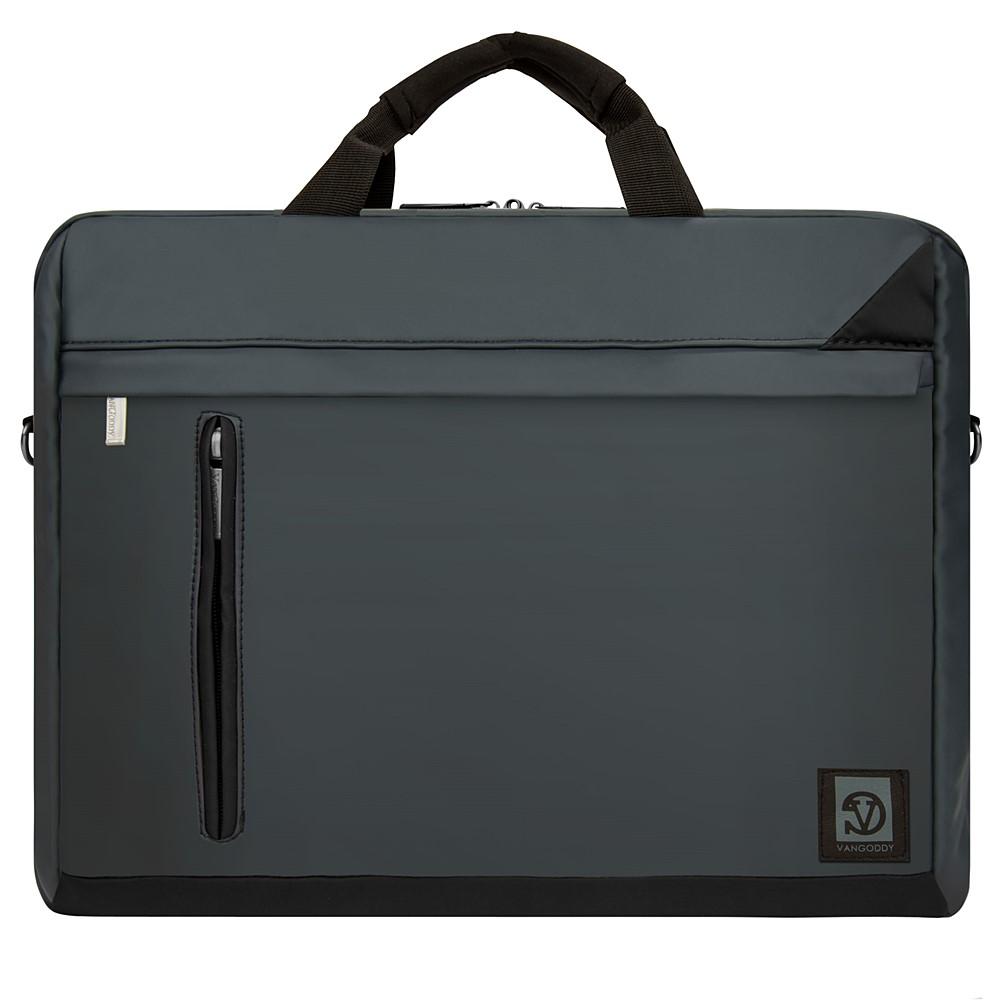 "Adler Laptop Shoulder Bag 15.6"" (Metallic Grey/Black Trim)"