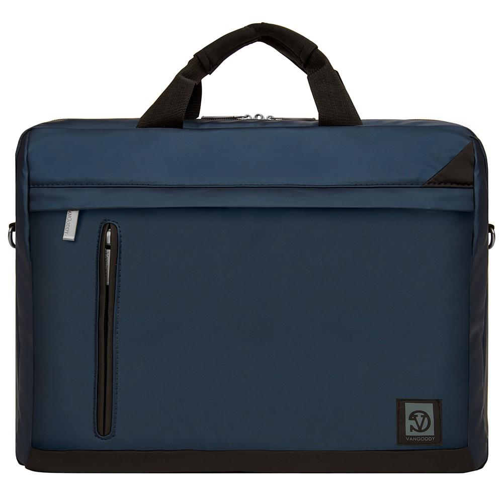 """Adler Laptop Shoulder Bag 15.6"""" (Navy Blue/Black Trim)"""