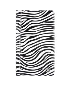 Mary Portfolio Case for Samsung® Galaxy Tab 4 8.0 with Sleep Mode (Black/White Zebra)