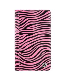 Mary Portfolio Case for Samsung® Galaxy Tab 4 8.0 with Sleep Mode (Pink Zebra)