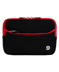 "Tablet Neoprene Sleeve 7"" (Black/Red Trim)"