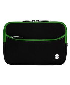 "Tablet Neoprene Sleeve 7"" (Black/Green Trim)"
