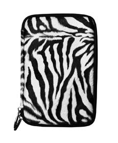 Zebra Faux Fur Hard Cube