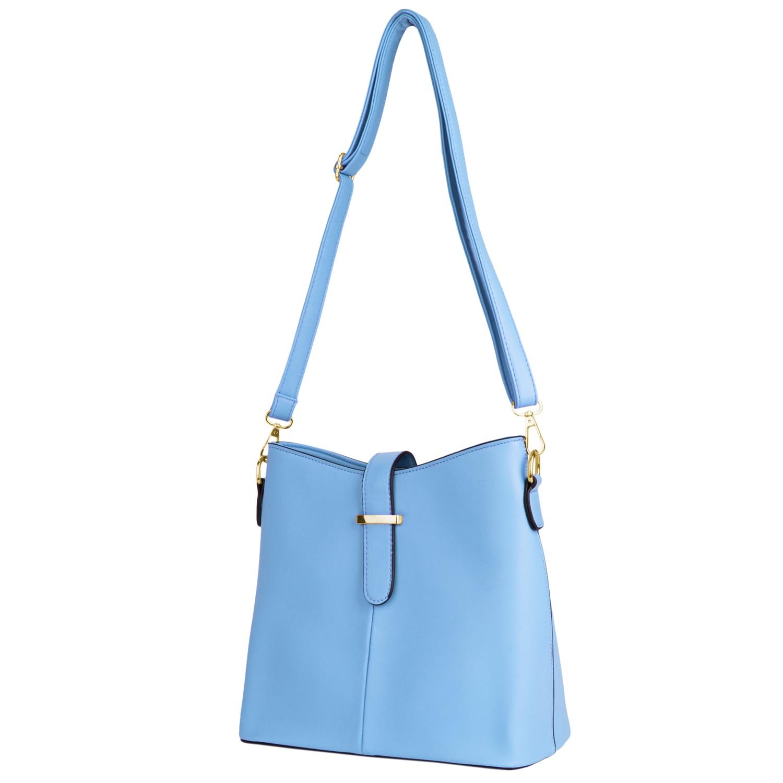 Serena Buckle Bag (Blue)