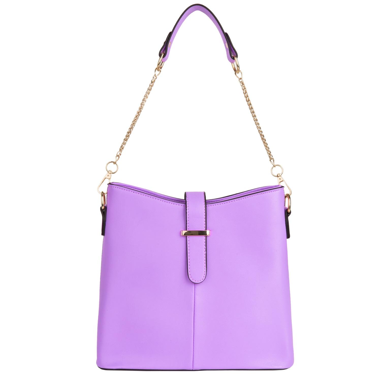 Serena Buckle Bag (Purple)