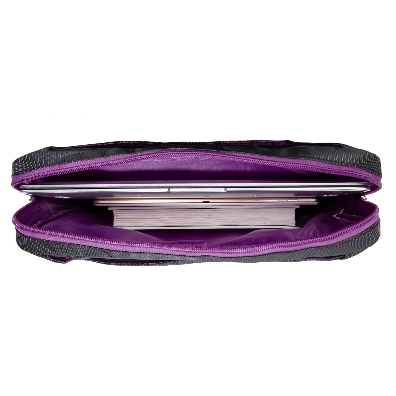 """NineO Messenger Bag 15"""" (Gray/Purple)"""