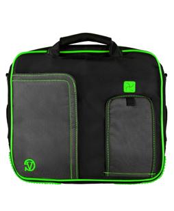 """(Black/Green) Pindar Shoulder Case 11"""""""